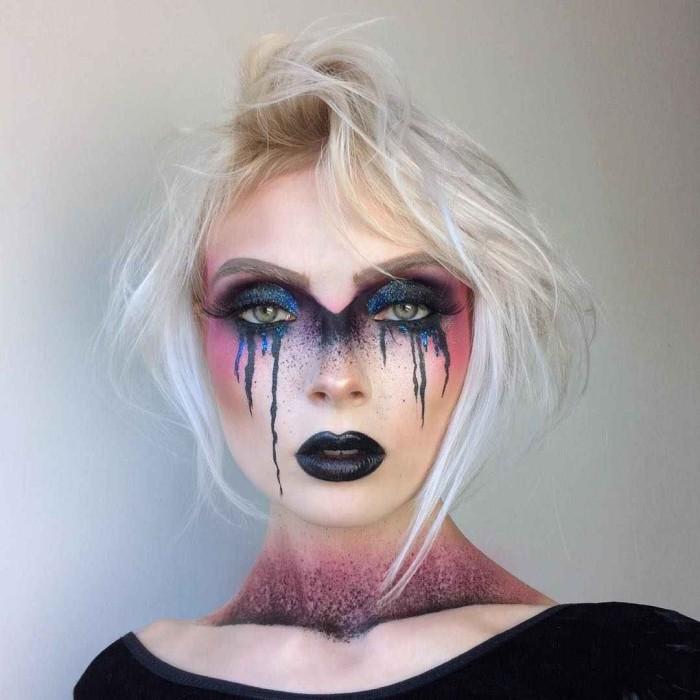 Яркий макияж на Хэллоуин: 69 свежих идей
