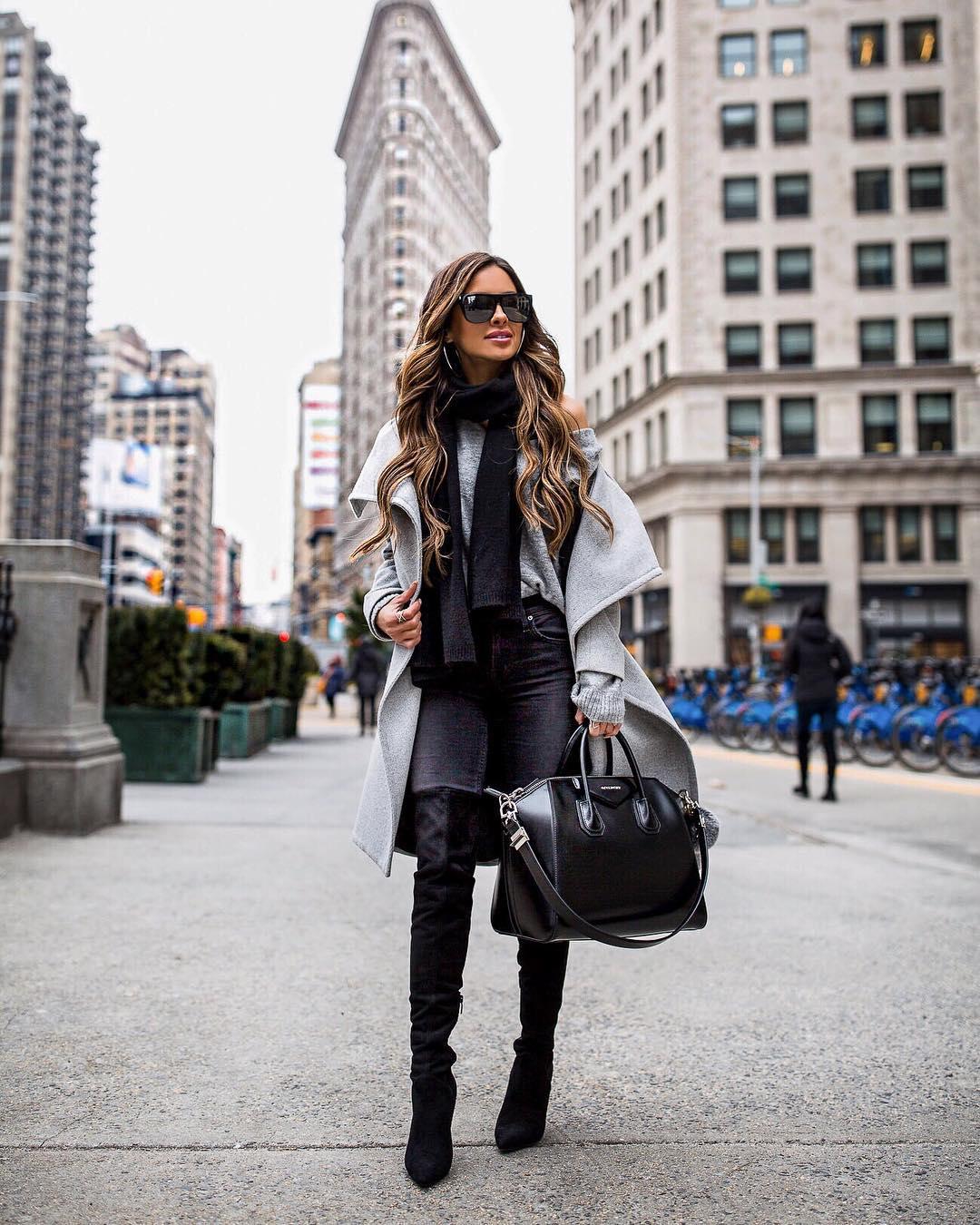 10 стильных идей, как можно носить шарф зимой 2020-2021