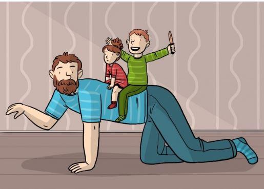 Мужское воспитание глазами детей!