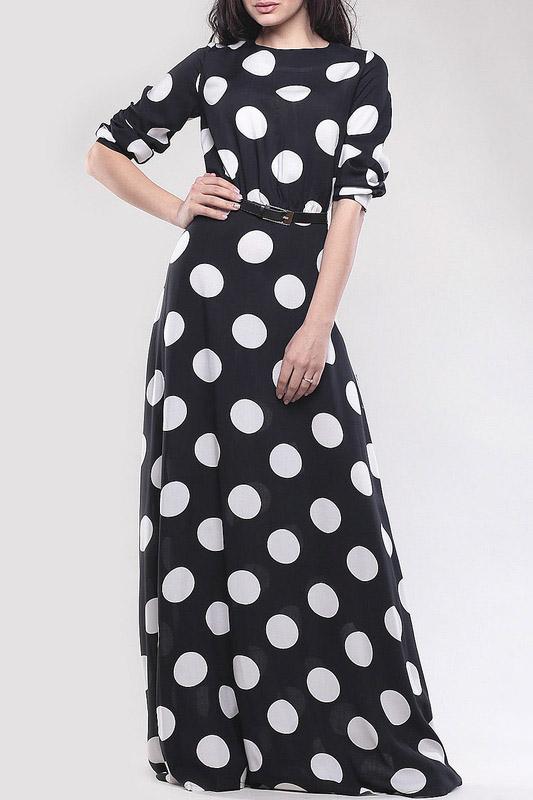 Современные акценты и винтажные детали платьев в горошек
