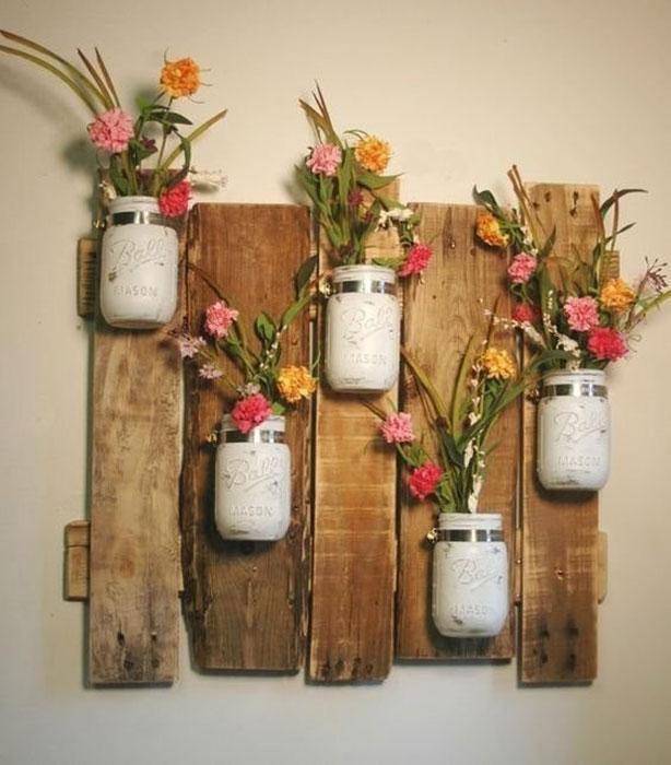 Варианты креативного дизайна стен простыми материалами