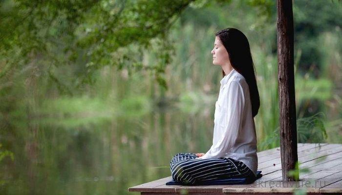 Медитация релакс расслабление в позе лотоса